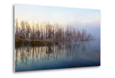 Autumn Morning and Fog on the River, the Autumn Season-Andriy Solovyov-Metal Print