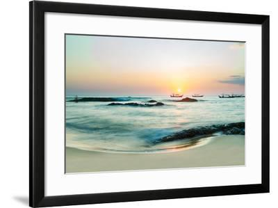 Beautiful Sunset in Khao Lak Thailand-Remy Musser-Framed Photographic Print