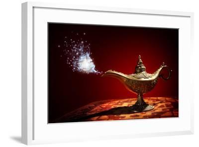 Magic Aladdins Genie Lamp-Brian Jackson-Framed Photographic Print