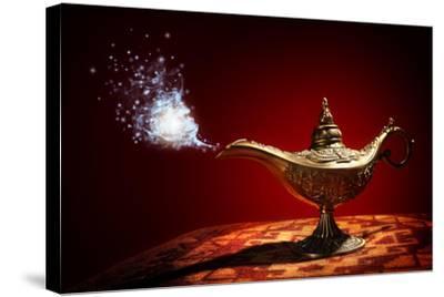 Magic Aladdins Genie Lamp-Brian Jackson-Stretched Canvas Print