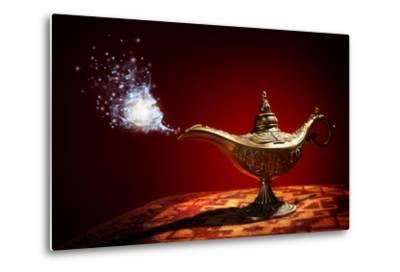 Magic Aladdins Genie Lamp-Brian Jackson-Metal Print