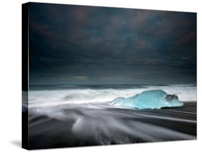 Jökulsárlón Frozen Ice Penguin, Iceland-Ann Clark Landscapes-Stretched Canvas Print