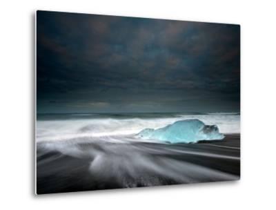 Jökulsárlón Frozen Ice Penguin, Iceland-Ann Clark Landscapes-Metal Print