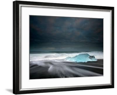 Jökulsárlón Frozen Ice Penguin, Iceland-Ann Clark Landscapes-Framed Photographic Print