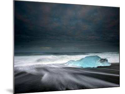 Jökulsárlón Frozen Ice Penguin, Iceland-Ann Clark Landscapes-Mounted Photographic Print