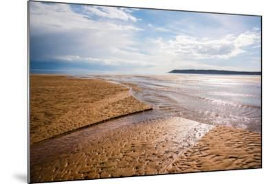 Pennard Pill Meets the Bristol Channel at Three Cliffs Bay, Gower, South Wales, UK-Nigel John-Mounted Photographic Print