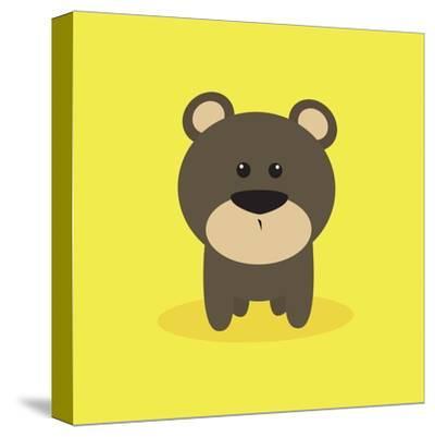 Cute Cartoon Bear-Nestor David Ramos Diaz-Stretched Canvas Print