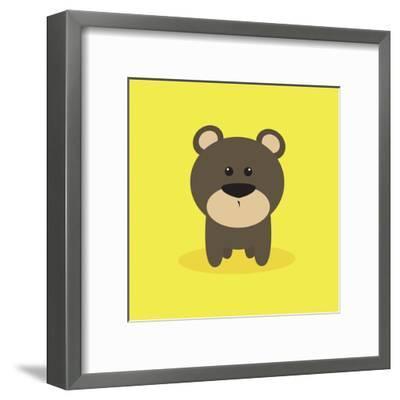 Cute Cartoon Bear-Nestor David Ramos Diaz-Framed Art Print