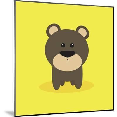 Cute Cartoon Bear-Nestor David Ramos Diaz-Mounted Art Print