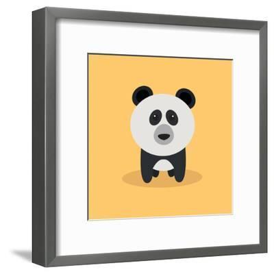 Cute Cartoon Panda-Nestor David Ramos Diaz-Framed Art Print
