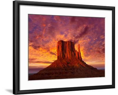 Monument Valley West Mitten at Sunset Sky-Lunamarina-Framed Photographic Print