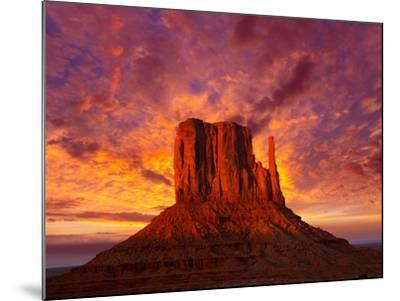 Monument Valley West Mitten at Sunset Sky-Lunamarina-Mounted Photographic Print