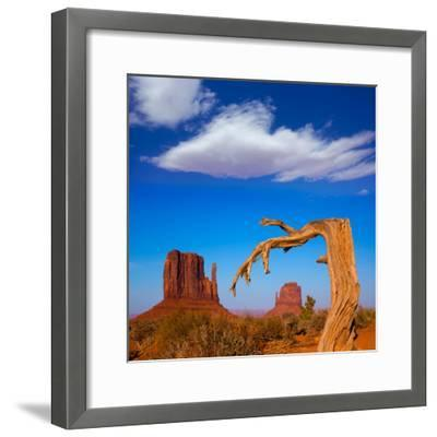 Monument Valley West and East Mittens Butte Utah-Lunamarina-Framed Photographic Print