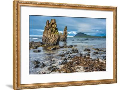 Rugged Volcanic Landscapes Along the Strandir Coast, West Fjords, Iceland-Luis Leamus-Framed Photographic Print