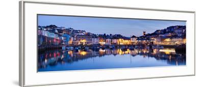 Panorama of Brixham Harbour at Sunset. Devon England UK-Ian Woolcock-Framed Photographic Print