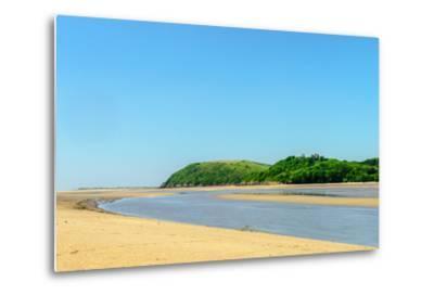Ferryside Beach, the Coast of Carmarthenshire, Showing the Estuary of the River Tywi- Freespiritcoast-Metal Print