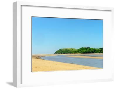 Ferryside Beach, the Coast of Carmarthenshire, Showing the Estuary of the River Tywi- Freespiritcoast-Framed Photographic Print