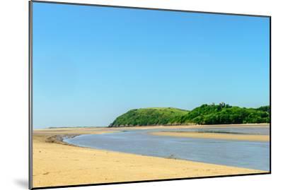 Ferryside Beach, the Coast of Carmarthenshire, Showing the Estuary of the River Tywi- Freespiritcoast-Mounted Photographic Print