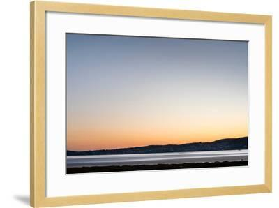 Grange-Over-Sands Overlooking the Kent Estuary at Dusk in Cumbria-Darryl Gill-Framed Photographic Print