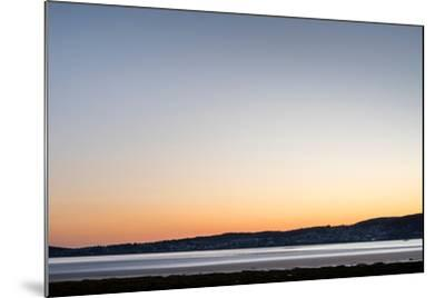 Grange-Over-Sands Overlooking the Kent Estuary at Dusk in Cumbria-Darryl Gill-Mounted Photographic Print