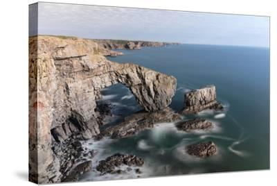 Green Bridge of Wales-Mse Stock-Stretched Canvas Print