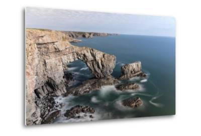 Green Bridge of Wales-Mse Stock-Metal Print