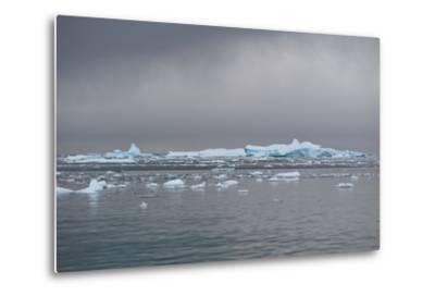 Icebergs Neko Harbour, Antarctica-Albert Knapp-Metal Print