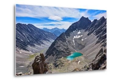Mountain Lake in an Open Circus in the Siberian Highlands. Eastern Sayan. Buryatia-Victor Nikitin-Metal Print