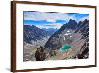 Mountain Lake in an Open Circus in the Siberian Highlands. Eastern Sayan. Buryatia-Victor Nikitin-Framed Photographic Print