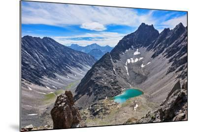Mountain Lake in an Open Circus in the Siberian Highlands. Eastern Sayan. Buryatia-Victor Nikitin-Mounted Photographic Print