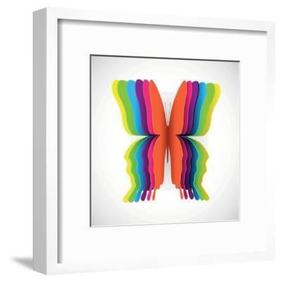 Rainbow Butterfly- Orkidia-Framed Art Print