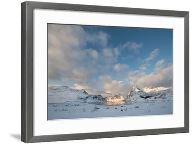 Coastal Landscape on Flakstadoya, Loftofen, Norway-moodboard-Framed Photographic Print