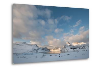Coastal Landscape on Flakstadoya, Loftofen, Norway-moodboard-Metal Print