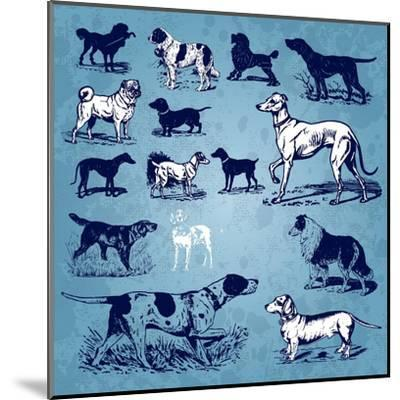 Dogs Vintage- Milalala-Mounted Art Print