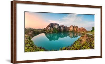Reflection of Mountain from Green Lake-Chee Keong Lee-Framed Photographic Print