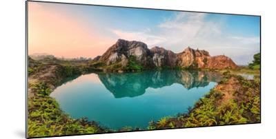Reflection of Mountain from Green Lake-Chee Keong Lee-Mounted Photographic Print
