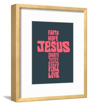Hand Drawn Illustration or Drawing of a Religious Cross with Different Religious Concepts-Bernardo Ramonfaur-Framed Art Print