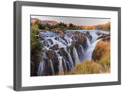 Multiple Streams Comprise the Epupa Fall-David Kettles-Framed Photographic Print