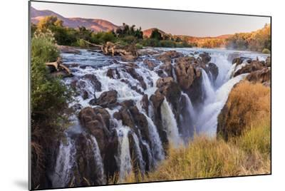 Multiple Streams Comprise the Epupa Fall-David Kettles-Mounted Photographic Print
