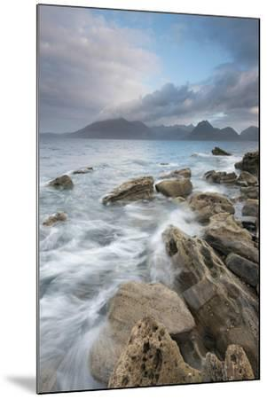 Dramatic Skies over Incoming Tide at Elgol, Loch Scavaig, Isle of Skye, Scotland-Stewart Smith-Mounted Photographic Print
