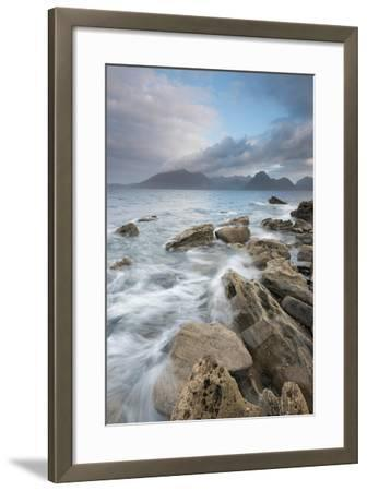 Dramatic Skies over Incoming Tide at Elgol, Loch Scavaig, Isle of Skye, Scotland-Stewart Smith-Framed Photographic Print