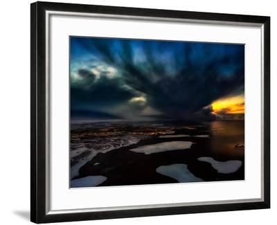 Dramatic Skies over Reykjavik, Iceland Digital Composite-Ragnar Th Sigurdsson-Framed Photographic Print