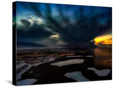 Dramatic Skies over Reykjavik, Iceland Digital Composite-Ragnar Th Sigurdsson-Stretched Canvas Print