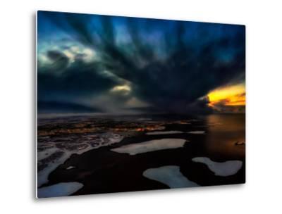 Dramatic Skies over Reykjavik, Iceland Digital Composite-Ragnar Th Sigurdsson-Metal Print