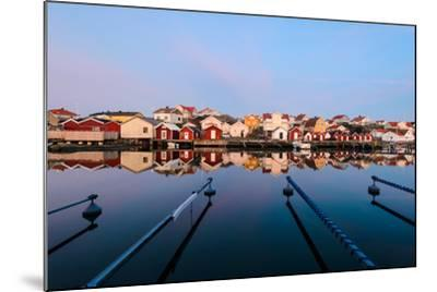 Colourful Houses Reflected in a Still Harbour-Utterstr?m Photography-Mounted Photographic Print