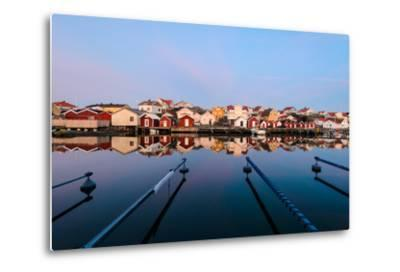 Colourful Houses Reflected in a Still Harbour-Utterstr?m Photography-Metal Print