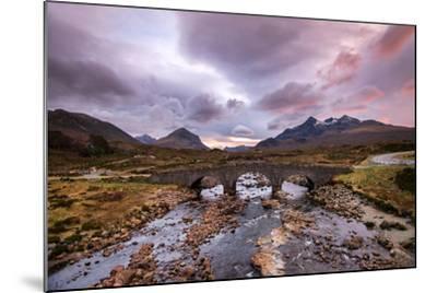 Sunset at Sligachan Bridge, Isle of Skye Scotland UK-Tracey Whitefoot-Mounted Photographic Print