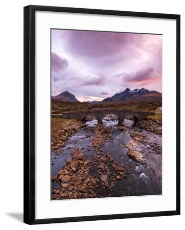 Sunset at Sligachan Bridge, Isle of Skye Scotland UK-Tracey Whitefoot-Framed Photographic Print
