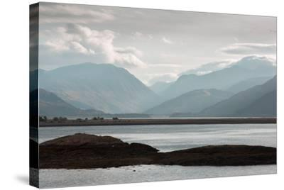 View over Lock Linnhe, the- Landscape-Stretched Canvas Print
