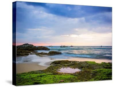 Sunset on Khao Lak Beach in Thailand-Remy Musser-Stretched Canvas Print